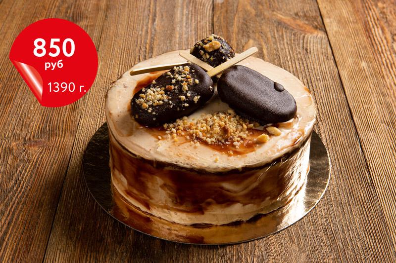 Купить торт «Сникерс»