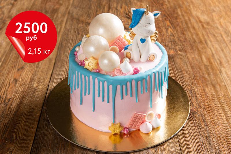 Купить торт с единорогом «Сметанник» 2,15кг