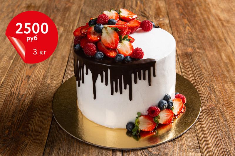 Купить торт «Красный бархат» 3кг